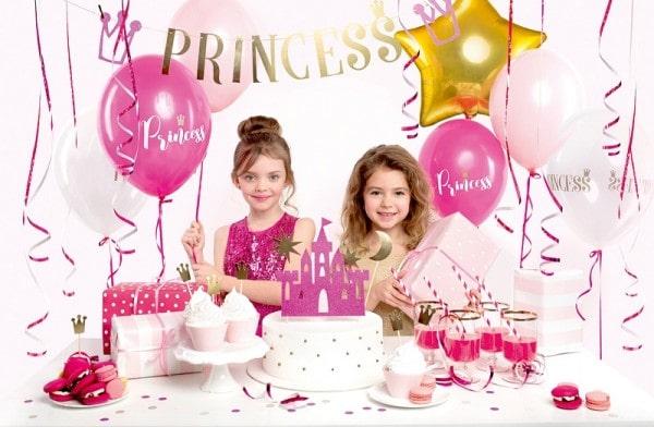"""Party-Deko-Set """"Prinzessin"""" - 31-teilig - Partydekoration Prinzessin - Dekorationsbeispiel"""