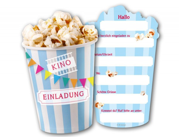 """6 Einladungskarten """"Kino"""" für Geburtstag oder Party online kaufen"""