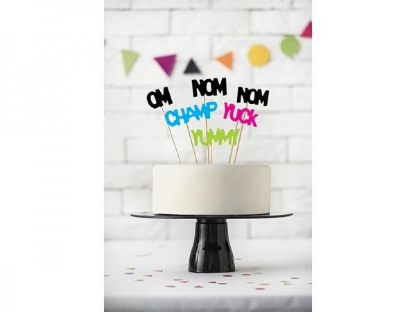 "Cupcake-Picks ""Monster-Party"" - bunt - 6 Stück"