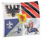 Ritterfahne | Ritter Banner für Mittelalter Deko