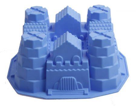 Ritterburgkuchen Silikonbackform Burg Kindergeburtstag