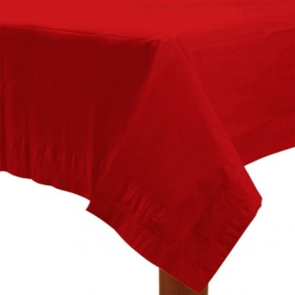 tischdecke papier in rot 137 x 274 cm tischdekoration. Black Bedroom Furniture Sets. Home Design Ideas