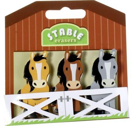 Super Mitgebsel für Pferdegeburtstag - 3 Radiergummis