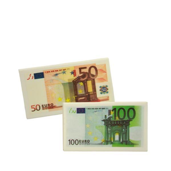 Bestellen Sie jetzt den Radiergummi Geldschein als originelles Mitgebsel für die Detektivparty. 50 Euro oder 100 Euro als Radiergummi Geldschein für den Kindergeburtstag Detektiv.