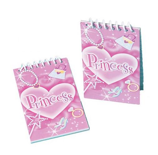 Mini-Notizblock Prinzessin Geburtstag Mitgebsel 12er Pack