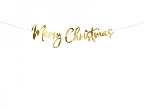 "DIY ""Merry Christmas""-Girlande - metallic gold - 83 cm 