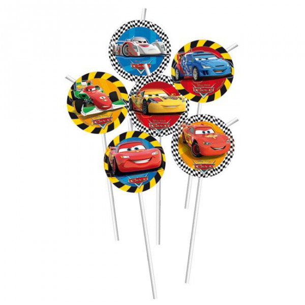 Strohhalme -Disney Cars- 6er Pack ✔ mit Lightning McQueen ✔