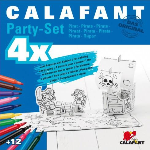 Bastelset Pirat für Kindergeburtstag von Calafant für 4 Kinder