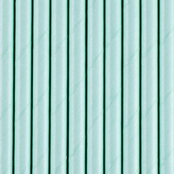 Papierstrohhalme - türkisblau - 10 Stück