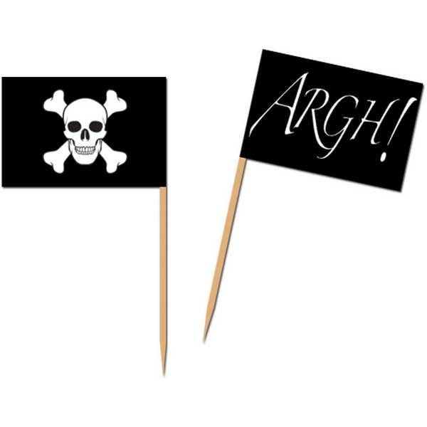 partypicker piraten f hnchen 50er pack partydeko g nstig online kaufen. Black Bedroom Furniture Sets. Home Design Ideas