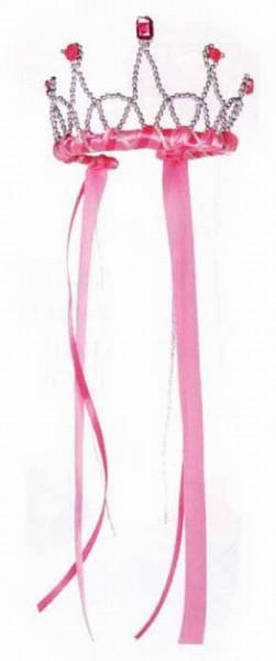 Bänder Diadem für KInder in pink von Great Pretenders