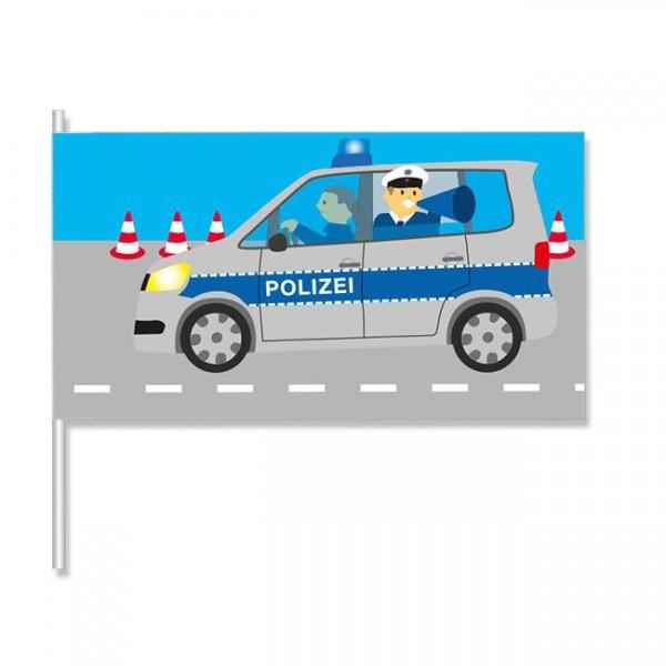 """Papier-Flagge """"Polizei"""" 8er Pack für Polizeipartys Kinderpartys Kindergeburtstage"""