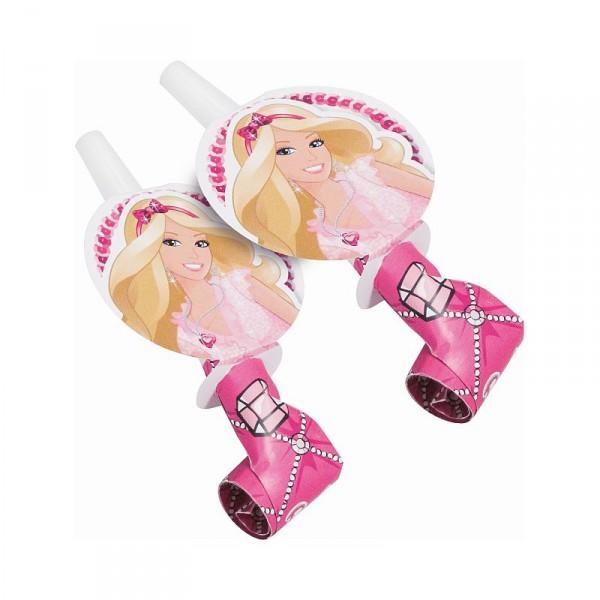 BArbie Partytröten für Mädchen Kindergeburtstag 6er Pack