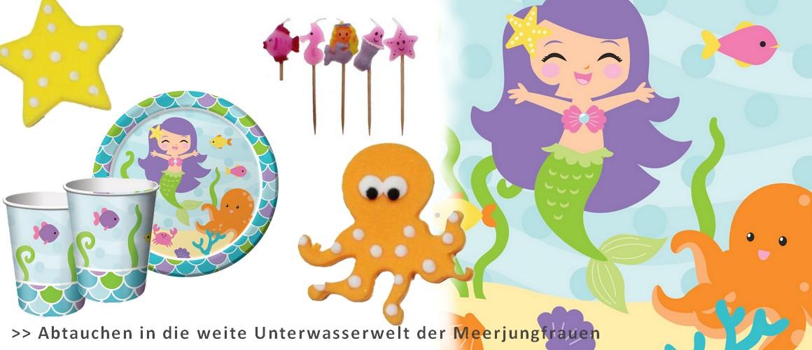 Meerjungfrau Party Deko, kindergeburtstag meerjungfrau