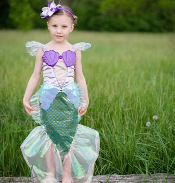 Traumhaftes Nixen oder Meerjungfrauen Kostüm von Great Pretenders für Kinder.