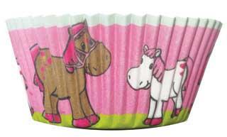 Papier Muffinförmchen für Pferdeparty