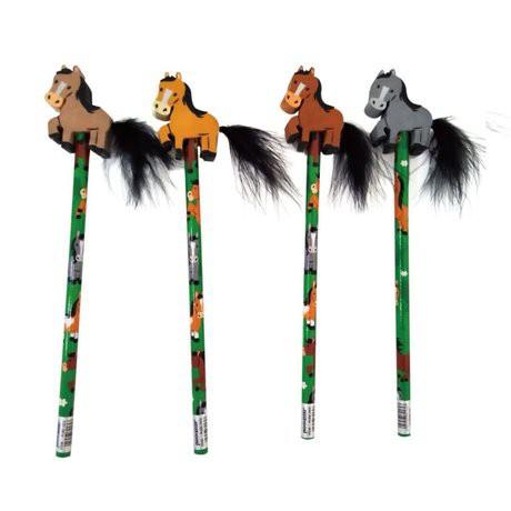 Bleistift Pferd und Schweif mit Radiergummi