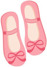Prinzessinnen spiele, Schuhe für Prinzessinnen in rosa mit Schleifchen