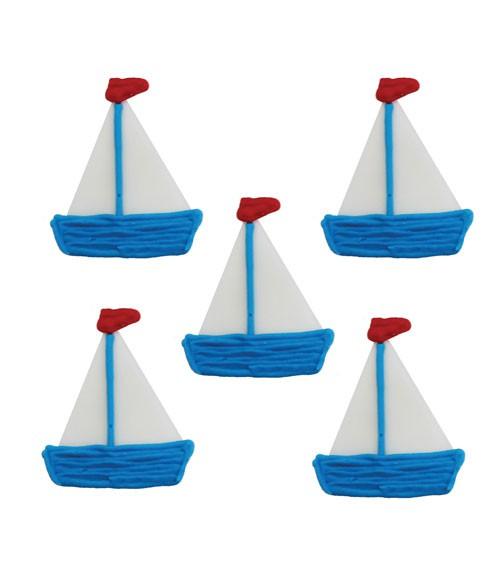 """Zuckerdekor """"Segelboote"""" - 5 Stück"""