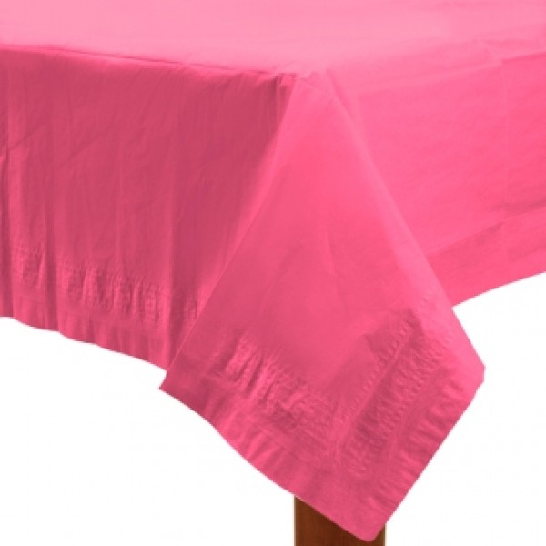 Tischdecke Kunststoff 137 x 274 cm in schönem Pink