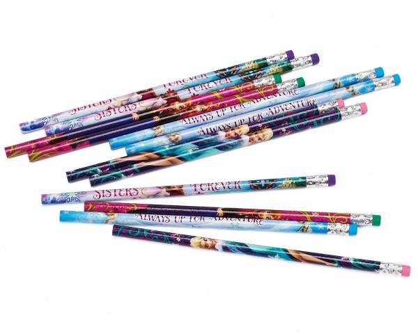 12 Bleistifte mit Radierer - Eiskönigin - Frozen