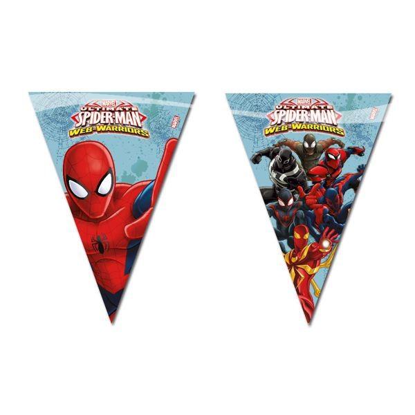 "Wimpelkette ""Ultimate Spiderman"" Web Warriors ✔ Partydeko günstig kaufen"