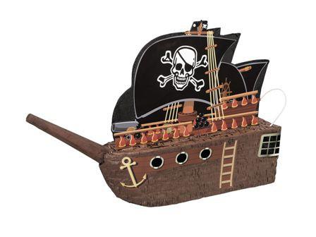 """Pinata """"Piratenschiff"""" zum Zerschlagen, ca. 45x48x10cm ➤ Piratenparty Pinataspiel Kinderparty ✔"""