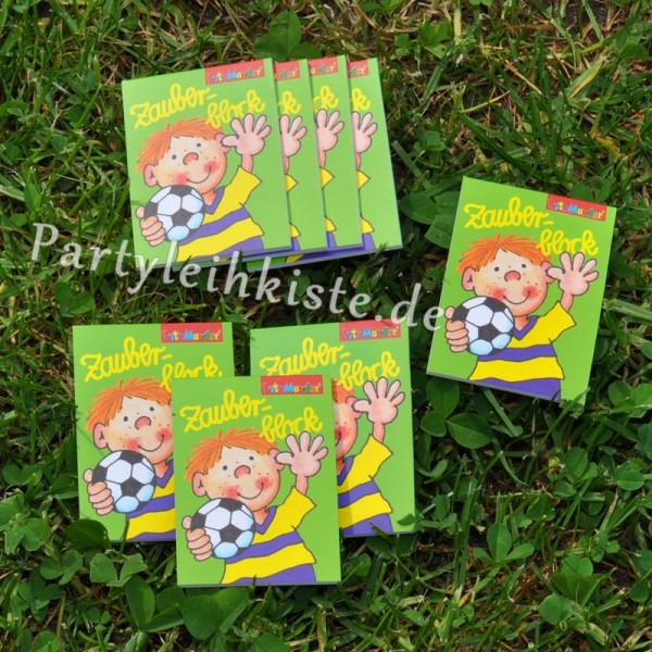 "Zauberblock ""Fussball - Fritz Flanke"" 8er Pack Mitgebsel Set Fussballparty"