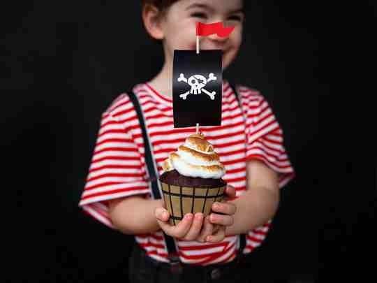 """Beispieldekoration - Cupcake-Deko-Set """"Pirates Party"""" - 12-teilig - Piratenparty Zubehör"""