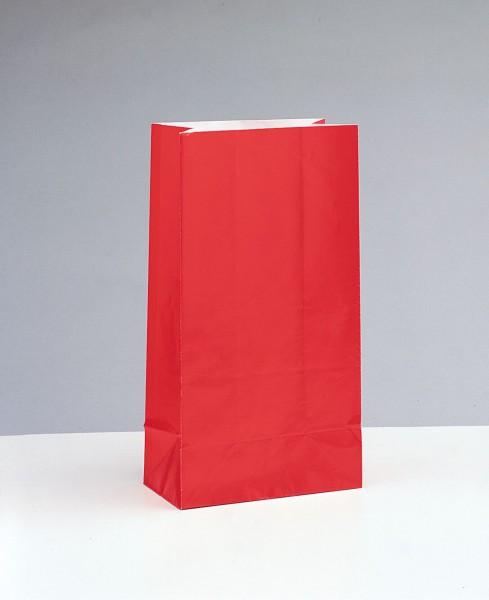 Papiertüte rot im 12er Pack