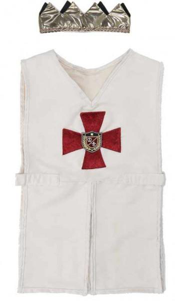 Kreuzritter Tunika mit Krone | Ritterkostüm für Kinder von Great Pretenders
