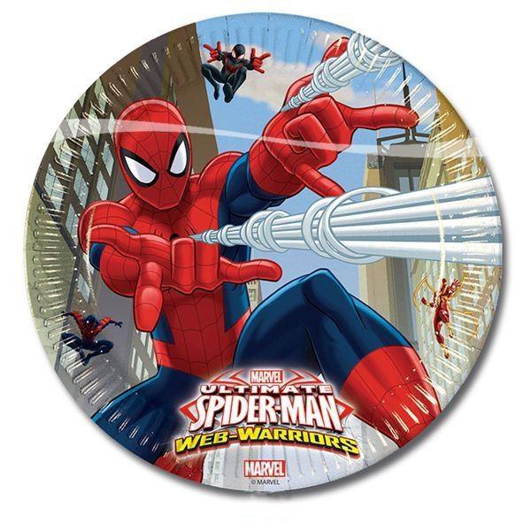 Ultimate Spiderman – Pappteller im 8er Pack, 23cm, Web Warriors