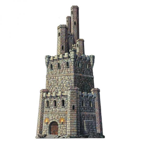 Wanddeko Ritter-Burg, 1,22 m aus Pappe ✔ Ritterdekoration für die Wand und Fenster