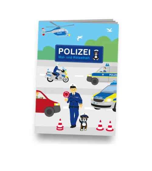 """Mal-und Rätselheft """"Polizei"""", DIN A6 - Mitgebsel KIndergeburtstag"""