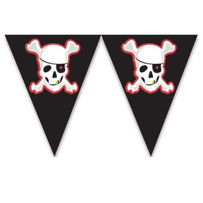 Wimpelkette Piraten, Banner für Partydeko 3,6 m