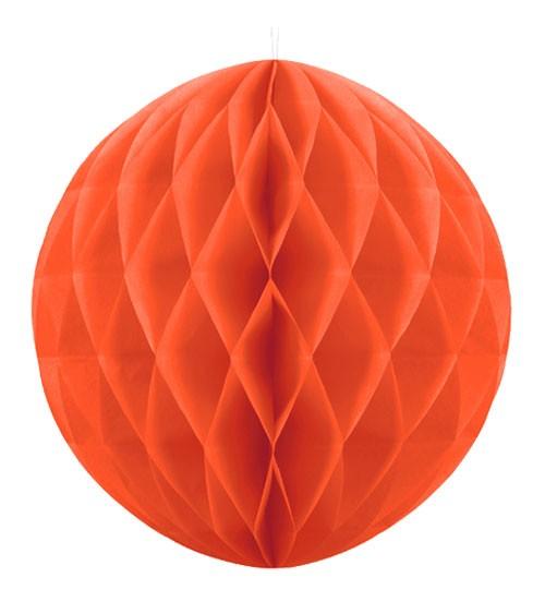 Wabenball - 30 cm - orange