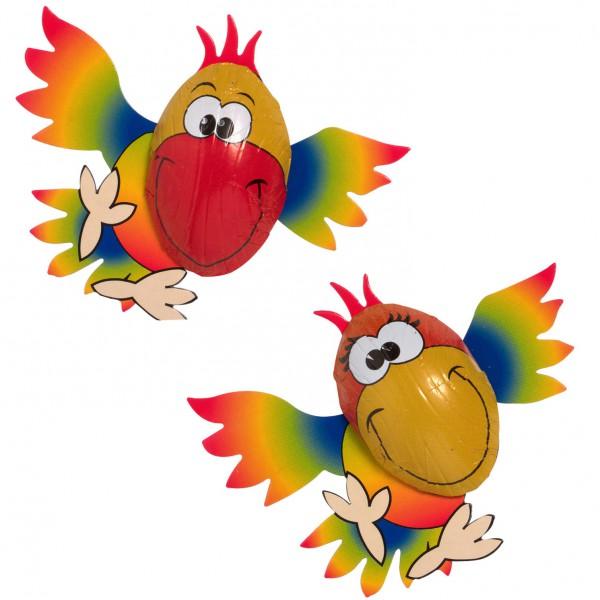 Schokoladen Papagei - Süsse Idee zum Dekorieren und verschenken