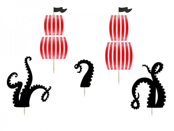 """Cake-Topper """"Pirates Party"""" - 5-teilig"""