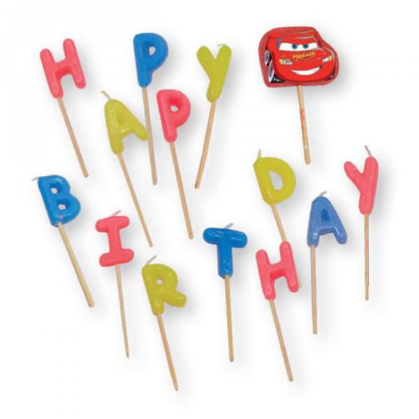 """Geburtstags-Kerzen """"Disney Pixar Cars"""" 14-tlg. mit Lightning McQueen ✔"""