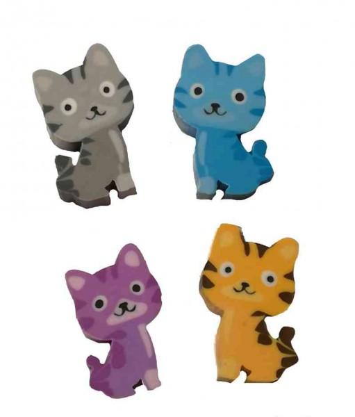 """Radiergummi Set """"Kätzchen"""" 8 Stück - Mitgebsel Katzen Schnurrparty"""