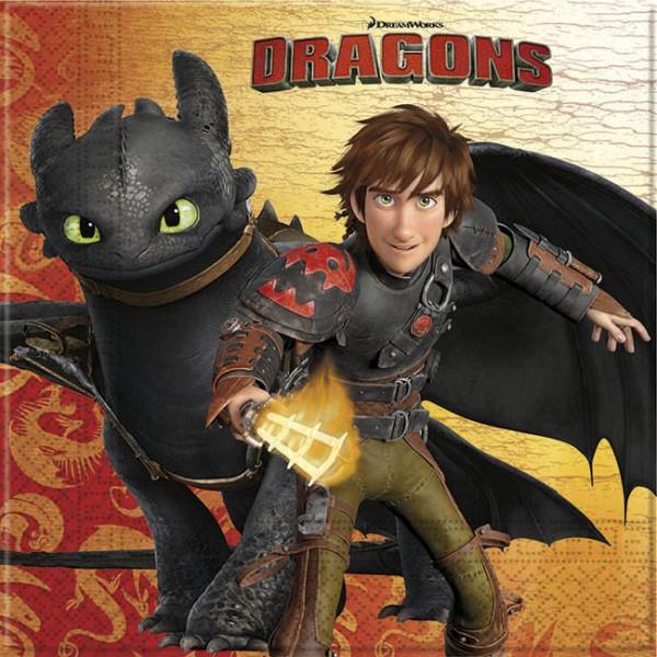 20 Motivservietten Dragons Drachen zähmen leicht gemacht