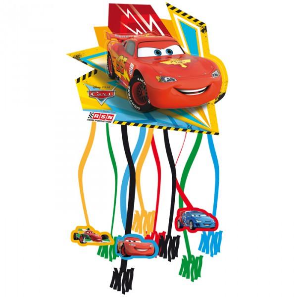 Cars Racing Sports Network - Zug-Pinata mit Lightning McQueen, mit Bändern ✔