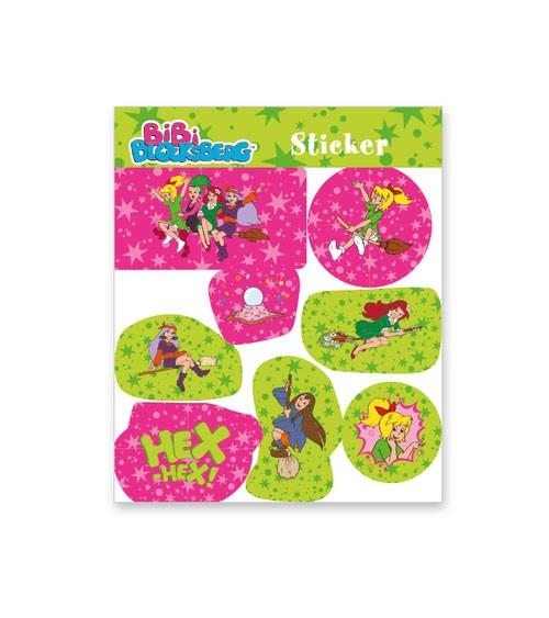 """Sticker """"Bibi Blocksberg"""" - 1 Bogen - Mitgebsel Kindergeburtstage"""