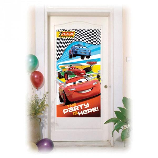 Cars Racing Sports Network, Türbanner, 76cm x 152cm ✔ mit Lightning McQueen ✔