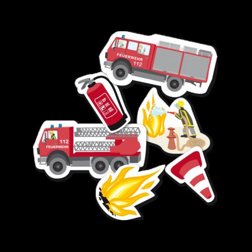 """XXL Konfetti """"Feuerwehr"""" 24 Teile - Kindergeburtstag Feuerwehrparty"""
