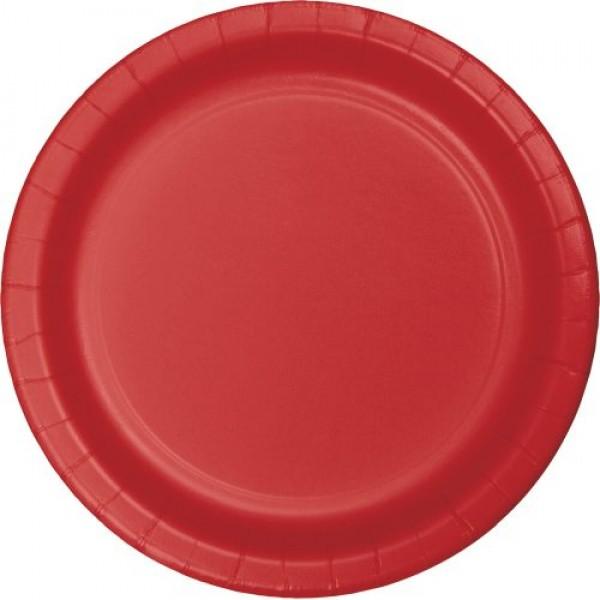 "Pappteller ""Rot"" 23 cm 8er Pack - Partydeko kaufen"