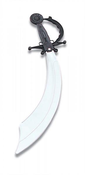 Piratenschwert aus Kunsstoff mit silberner Klinge und schwarzem Griff