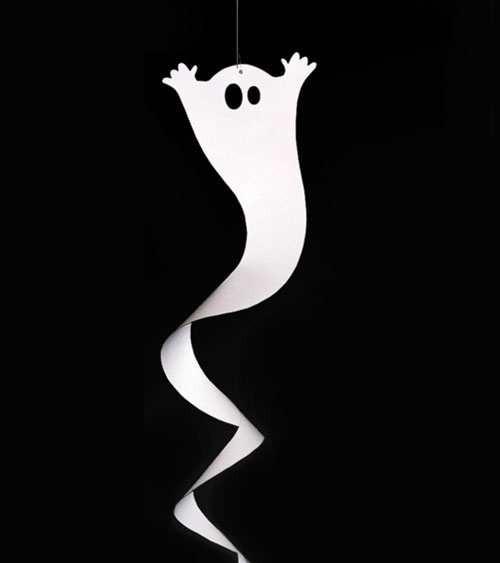 """Spiralgirlande """"Gespenst"""" - weiß - 90 cm - Partydeko"""