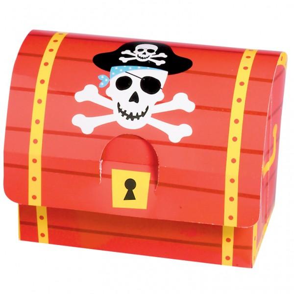 Piraten Mitgebselbox im 8er Set, für kleine Geschenke zur Piratenparty ➤ Mitgebselbox Schatztruhe