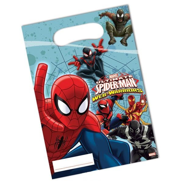 "Geschenk-Tütchen ""Ultimate Spiderman"" 6er Pack, Web Warriors"